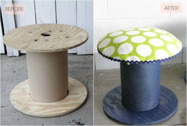 Diy Electrical Spool Stools Decor Fix