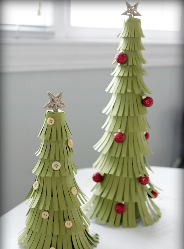 DIY Paper Christmas Trees by Heather