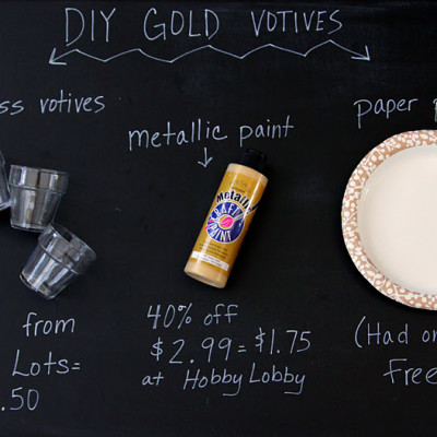DIY Gold Dipped Votives