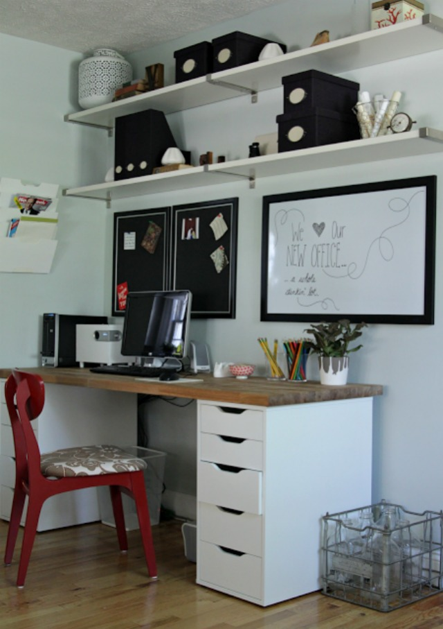 Our ikea office makeover decor fix Amenagement bureau ikea