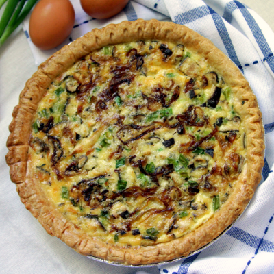 Caramelized Onion and Mushroom Quiche