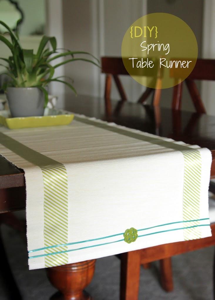 DIY: Spring Table Runner