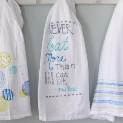 DIY: Colorful Tea Towels