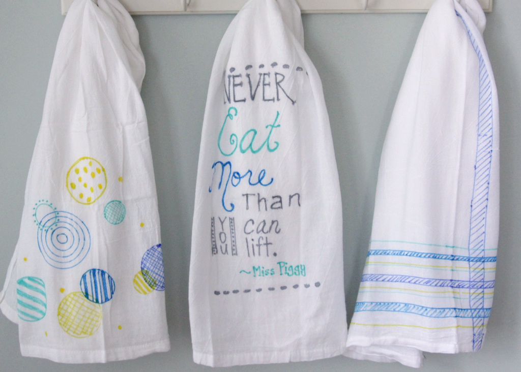 Diy colorful tea towels decor fix for How to keep white towels white