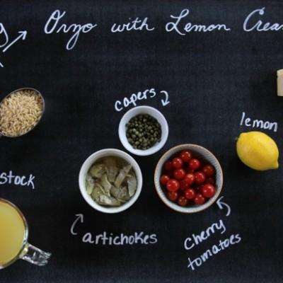 Orzo with Lemon Cream