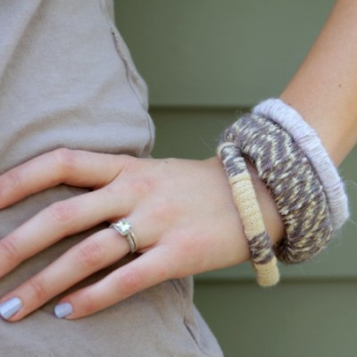 DIY Sweater Bracelets