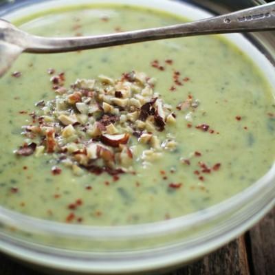 Creamy Leek and Roasted Asparagus Soup