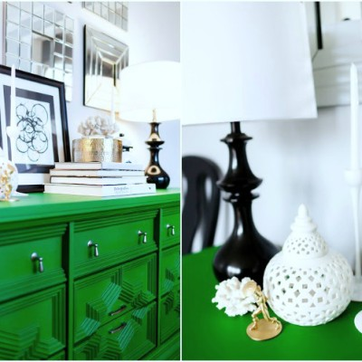 Glam Dining Room and Furniture Painting Tips