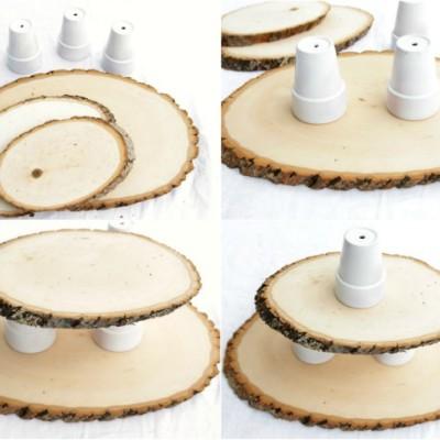 DIY: Woodsy Cupcake Stand