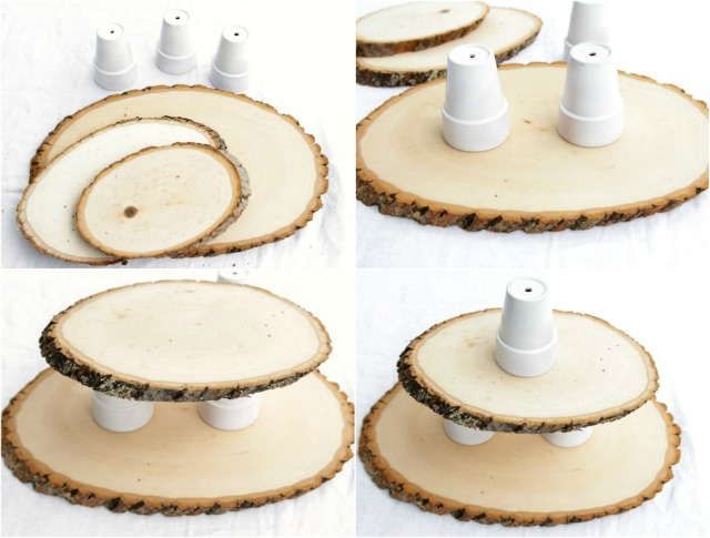 Diy woodsy cupcake stand decor fix for Cupcake stand plans