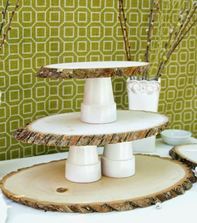 Diy Woodsy Cupcake Stand Decor Fix
