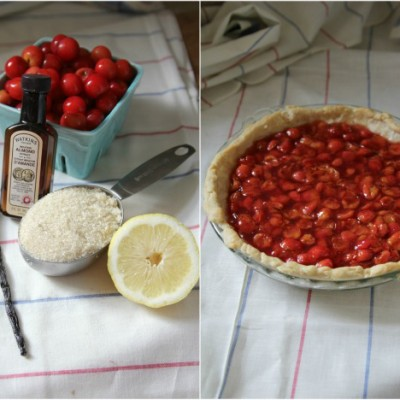 """Chicken-Out"" Cherry Vanilla Pie"