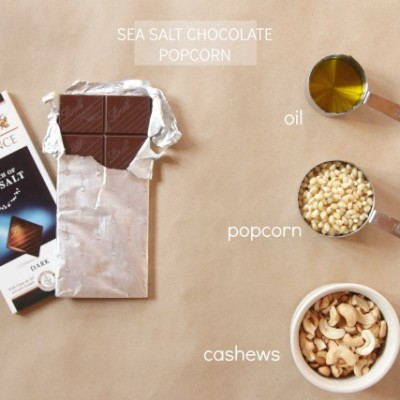 Sea Salt Chocolate Popcorn