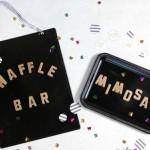 Gold Letter Magnet Board