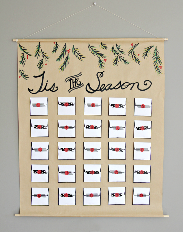 Advent Calendar Envelopes Ideas : Envelope advent calendar decor fix