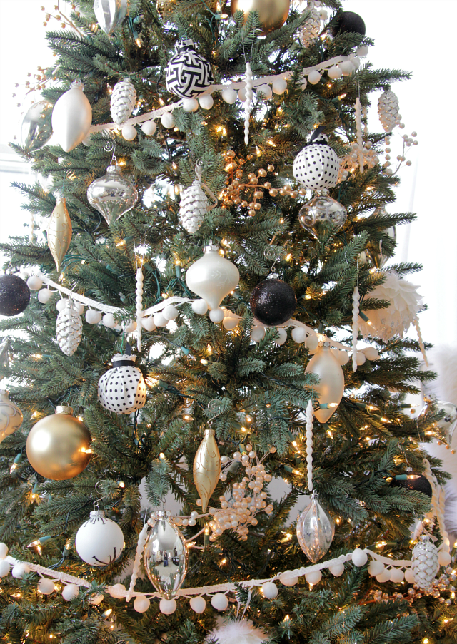 my black and white christmas tree - Lime Green Christmas Tree Decorations