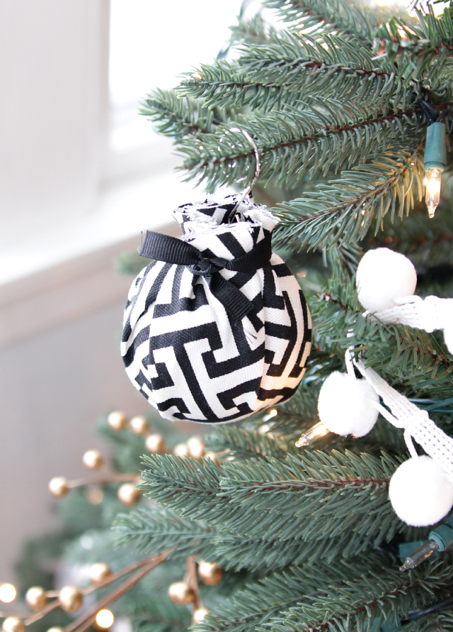 fabric wrapped ornamnet