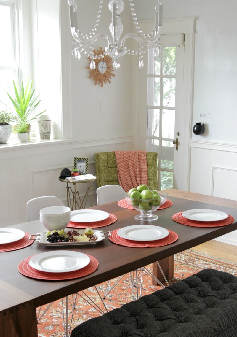 formal dining room table chair nook