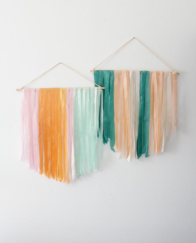 Diy Tissue Paper Banner Decor Fix