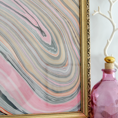 Marbled Paper Art and Mantel Indecision