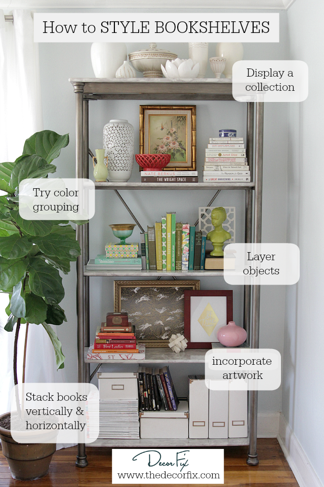 How to style a bookshelf | Decor Fix
