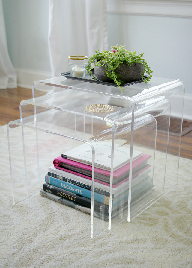 Acrylic nesting tables decor fix lucite side tables the lovely cupboard watchthetrailerfo