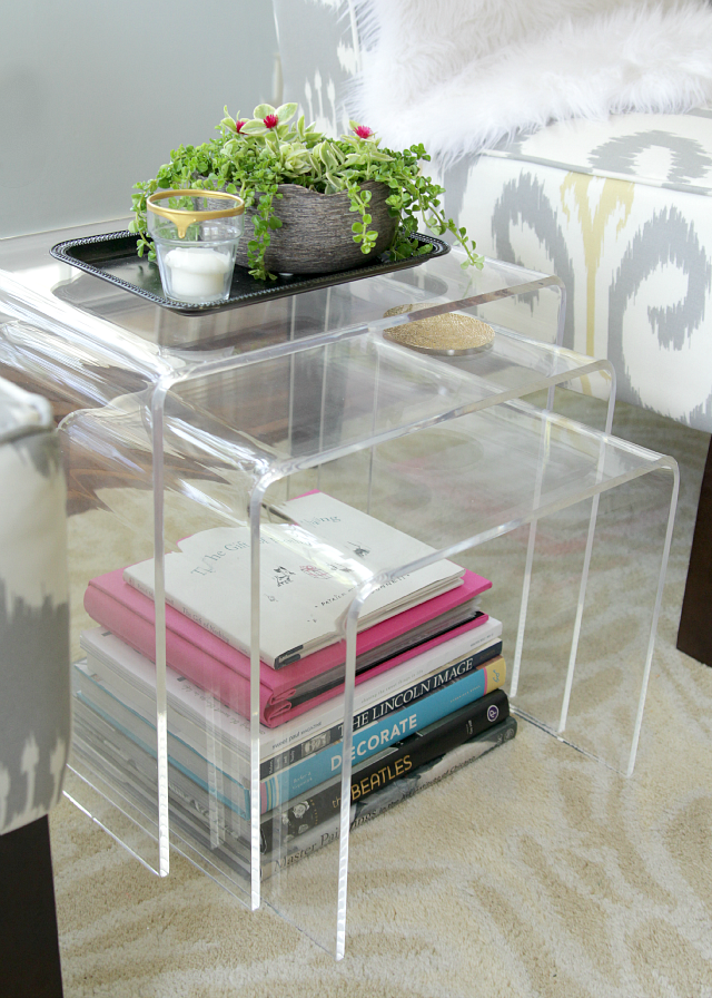 Acrylic Nesting Tables | The Lovely Cupboard