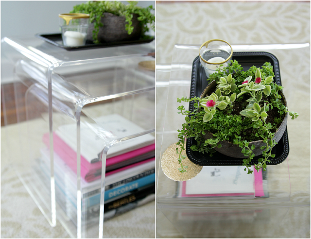 Lucite Nesting Tables | The Lovely Cupboard