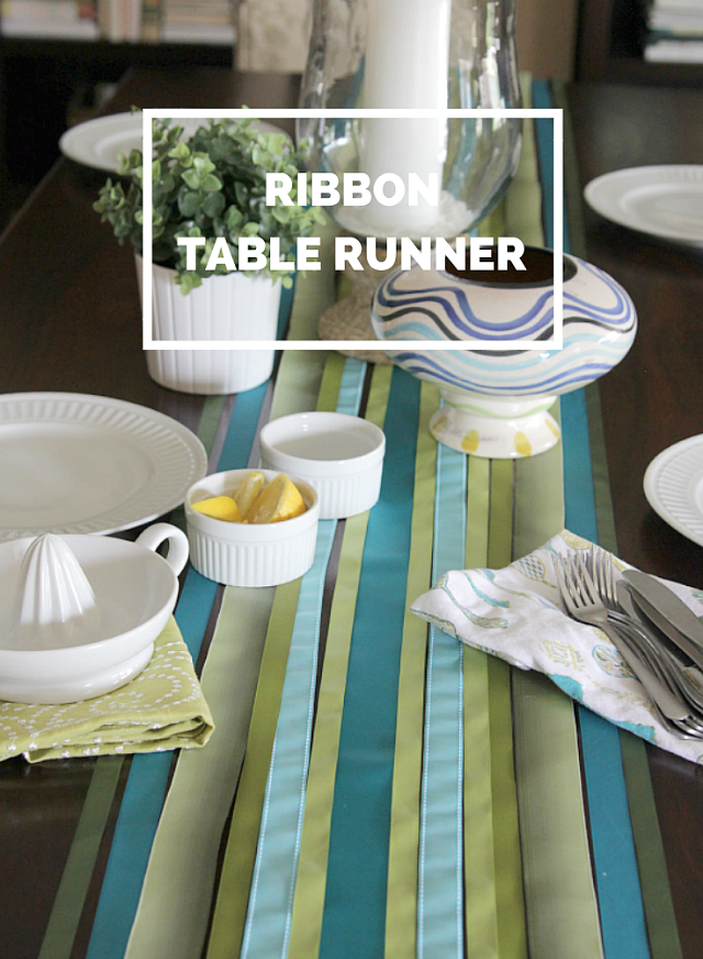 DIY Ribbon Table Runner