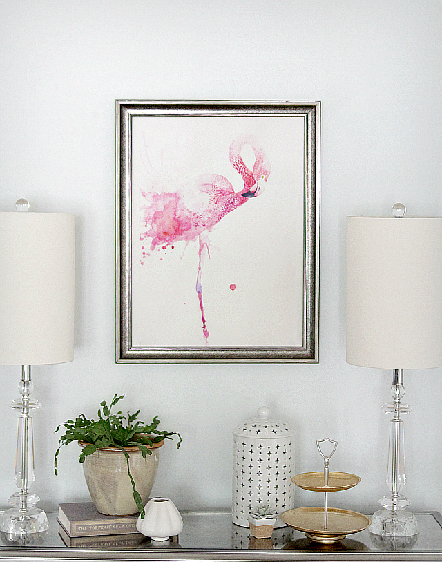 Flamingo Watercolor via The Lovely Cupboard