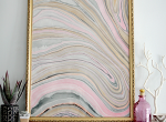 FRAMED MARBLED PAPER