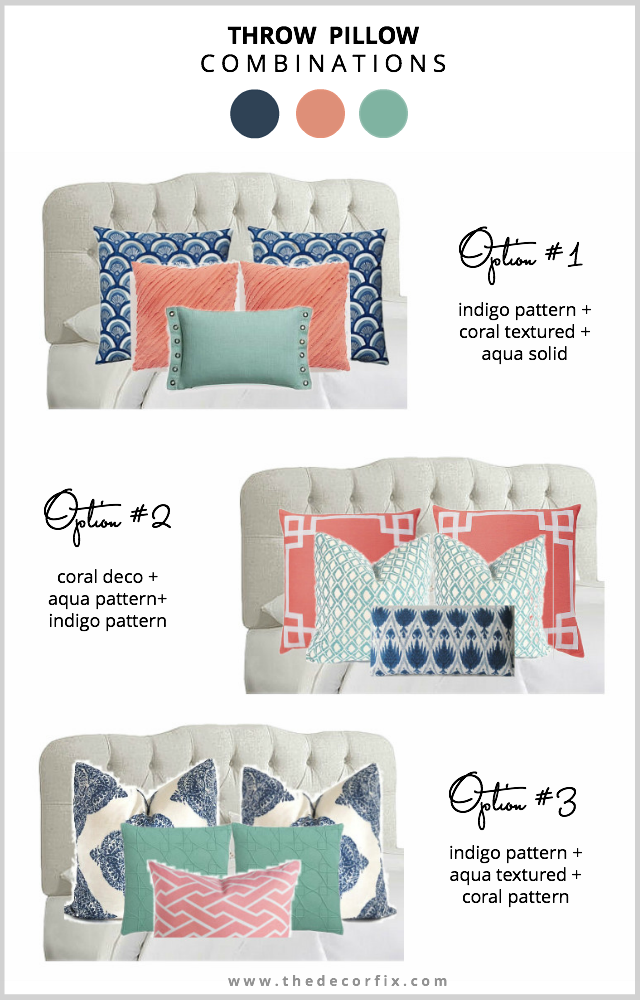 Throw Pillow Combinations  Decor Fix