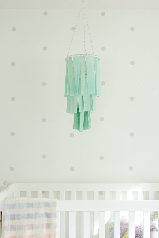 DIY fabric baby mobile