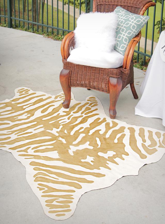 DIY faux zebra rug 4b