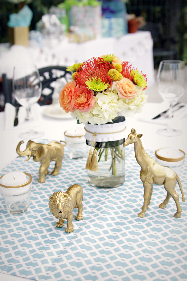 Gold Safari Baby Shower - Decor Fix