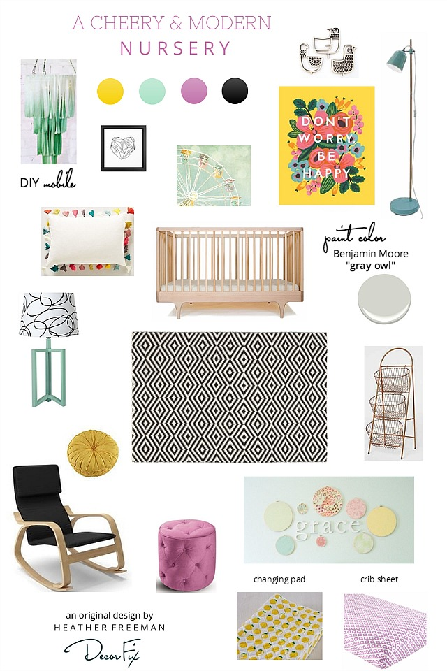 5 Color Schemes For A Girl Nursery