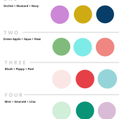 Modern color schemes for a girl nursery