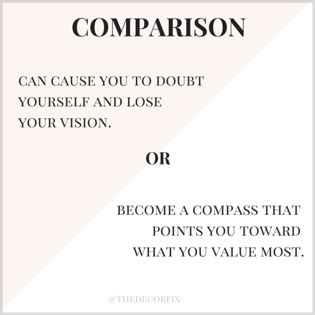 The two sides of comparison | Decor Fix