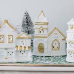 DIY Modern Christmas village