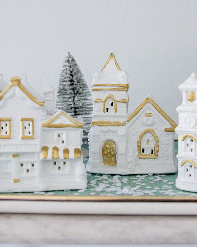 DIY Modern Christmas village