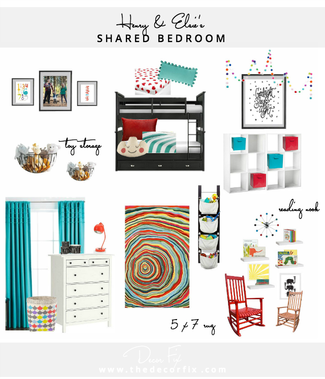 Shared kids bedroom design
