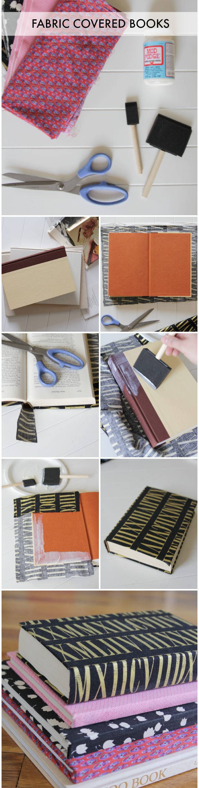 Fabric Covered Book ~ Fabric covered books
