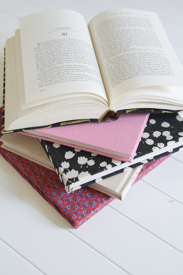 Fabric Covered Book : Fabric covered books