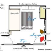 Shared Kids Room Floor Plan |Decor FIx