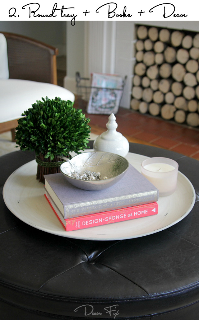 Cute How to style a round coffee table Decor Fix