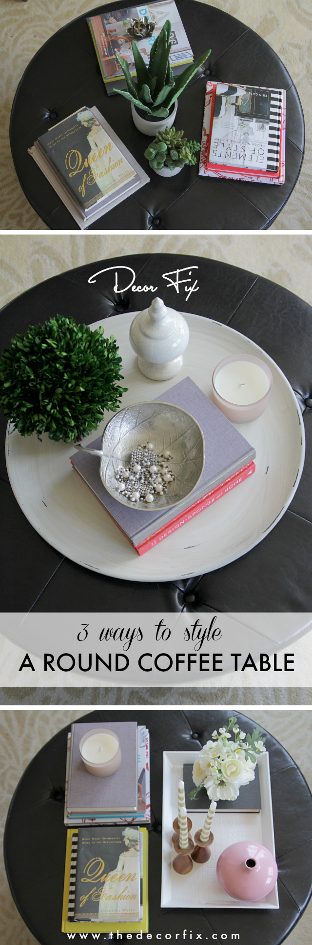 Perfect How to Style a Round Coffee Table