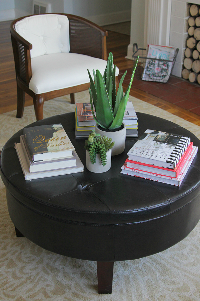 How to style a round coffee table decor fix for How to decorate living room table