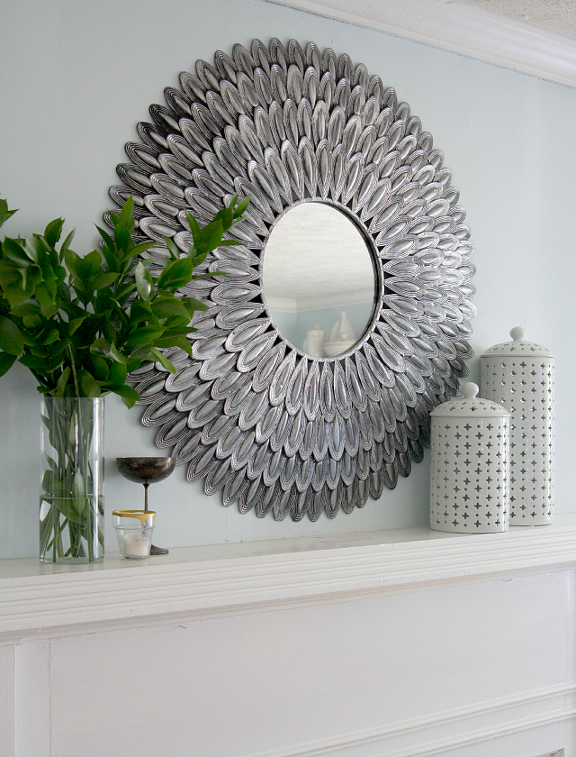 Mirror over mantel | Decor Fix