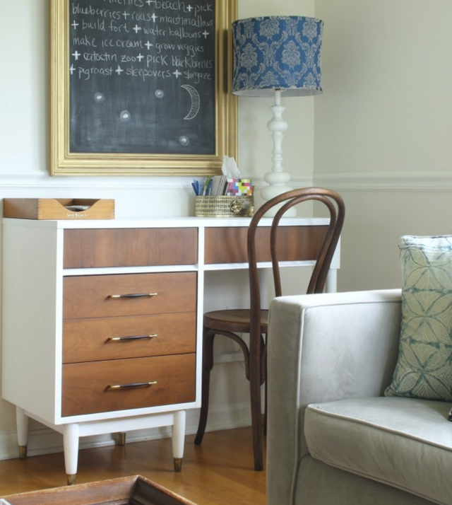 Midcentury desk makeover
