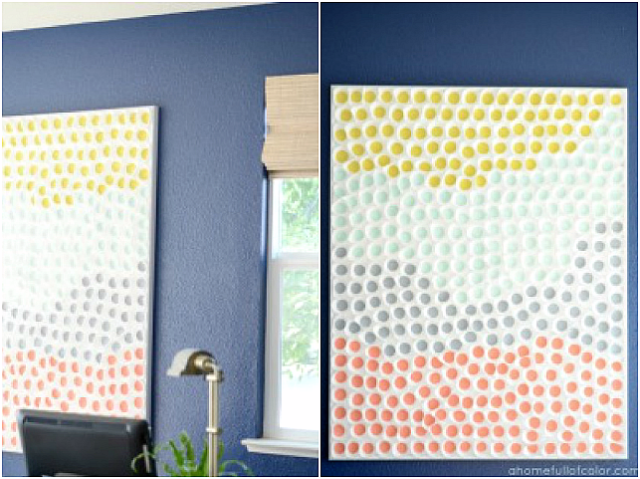 DIY art by SG Style: You won't believe the inexpensive kitchen supply used to make this!